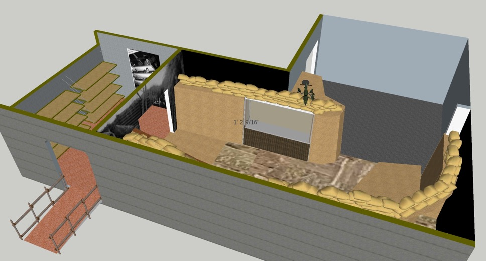 WWI exhibit rendering